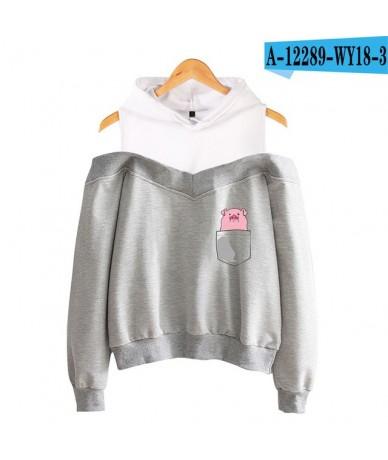 NEW 2019 Year Of The Pig Hoodies Sweatshirts Women Sleeve Off-Shoulder Exclusive Women Album sala hot autumn Hoodies - grey ...