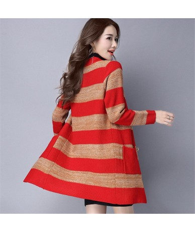 New Fashion Spring 2019 Women Sweaters Cardigans Casual Warm Long Design Female Knitted Sweater Coat Cardigan Sweater Lady -...