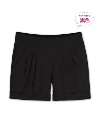 2019 New Summer Women Harem Shorts Casual Plus Size S-6XL Hight Waist Shorts Female Solid Elastic Waist Pleated Shorts Black...