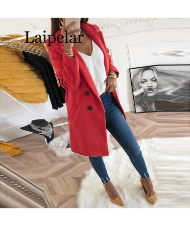 Suit Autumn Winter Women Jackets For Office Blazer Jacket Day-to-day Elegant Long 2019 - Red - 4G4167742768-4