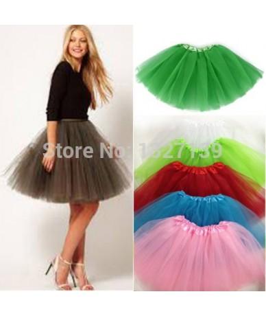 Fashion Women Girl Tulle Tutu Mini Organza 3 layere Party Skirt underskirt - Dark Pink - 4X3876465825-9