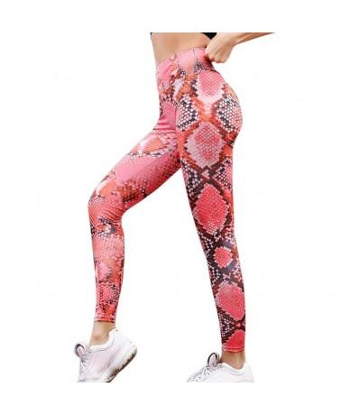 Women Fitness Push Up Leggings High Waist Workout Legging Pants Fashion Female Snake Printed Leggings Plus Size - color 7 - ...
