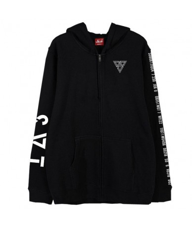 Kpop seventeen 2018 japan arena svt concert same printing zipper hoodie jacket fleece/thin unisex seventeen sweatshirt outwe...