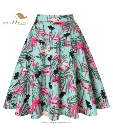 Cotton Black Skirt Womens Sexy Midi Summer Skirt Floral Polka Dots Black Red Blue Plus Size High Waist Plaid Women Skirt - G...
