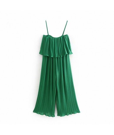 Popular new spring/summer 2019 women's clothing The European and American wind snow spins condole belt jumpsuits pleating CW...