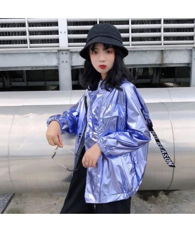 Jackets Women Harajuku Solid Zipper Pockets Thin Chic Sun Protection Korean Style Personality Womens Casual Fashion Student ...
