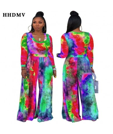 TH3369 holiday pastoral style jumpsuits long sleeve round neck printed loose comfortable 2 color jumpsuits long pants - Red ...