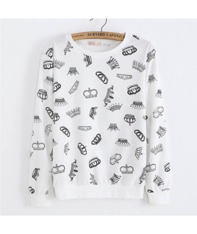 2019 New winter Hoody women Casual hoodies Ice cream fish print tracksuit long sleeve o neck letters sweatshirt for women To...