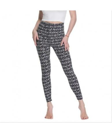 Women Leggings High Waist Cartoon Comic Beauty Print Trousers Soft Female Casual Elastic Pant - 20 - 494126012666-19
