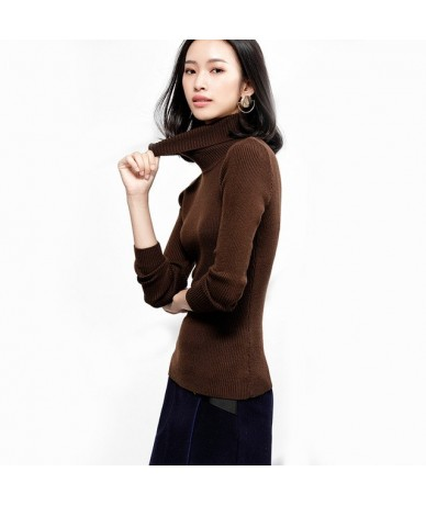2018 Fashion Autumn Women Sweaters And Pullovers Cashmere Vintage Slim Turtleneck Long Sleeve Wool Knitwear Jumper Pull Fema...