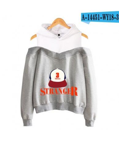 Stranger things 2019 new off-shoulder hooded sweatshirt cool Casual hooded Sweatshirt high Street fashion Sexy Hoodies Women...