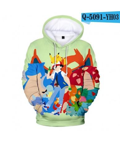 2019 Hot Sale Casual 3D pikachu Hoodies Sweatshirt Long Sleeve Cute Hooded Kpop Harajuku Fashion Kawaii Hip Hop Tops Plus Si...