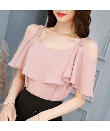 2018 new fashion custom color women's shirt short-sleeved lace chiffon shirt ruffled cute summer top KN36 - KN46 - 4L3093411...
