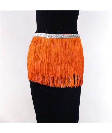 Belly Dancing Hip Dance Latin Dance Tassel Fringe Mini Skirts Fashion Dancer Hip Scarf Waist Belt Sexy Drawstring Dance Cost...
