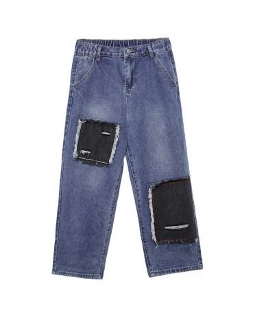Women High Waist Patchwork Loose Casual Straight Jeans Female Streetwear Hip Hop Punk Harem Trousers Denim Pants Boyfriend J...