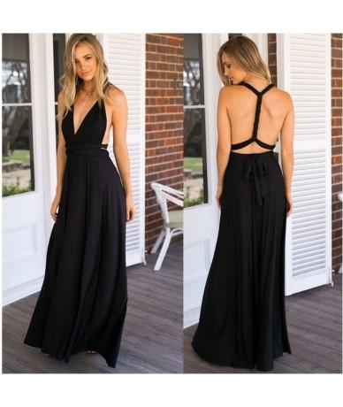 Bandage Sexy Jumpsuit Boho Rompers Women Jumpsuit 2019 Elegant Summer Jumpsuit Multi Way Wear Wrap Wedding Party - Solid Dre...