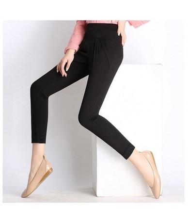 2018 Women Plus Size 6XL Harem Pant Lady Full Length Leggings Sexy High Waist Spring Autumn Trousers Red Green Black Khaki P...