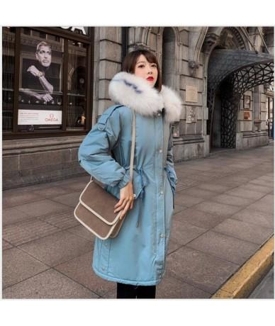 Women Coat Winter Lamb Cashmere Overcoat Long Slim Hooded jacket Female Plus Size Warm Thick Cotton women parka Clothes R262...