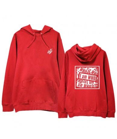 Fashion Straykids Hoodie I am Who Sweatershirt Hip Hop Street Wear Kpop Stray Kids Harajuku Hoodie Coat - Red - 403065131702-3