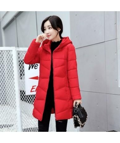 Fashion Winter coat Women winter jacket NEW100% High quality Large size Hooded warm cotton jacket Elegant Female costume AH3...