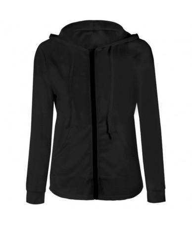 Women Lady Hoodie Top Sweatshirt Hooded Zipper Long Sleeve Slim Fashion For Winter Autumn TS95 - Black - 4R4155093462-1