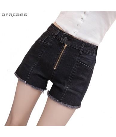 Black Oversize Bermuda Jeans Feminina Slim Summer Zipper High Waisted Shorts For Women Vintage Denim Shorts Pantalon Corto M...
