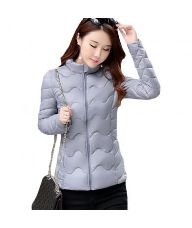 Women Short slim Down cotton Jacket Autumn Winter New Casual Warm Cotton Jackets Women's lightweight bread Plus size Parkas ...