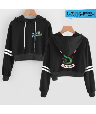 2019 RIVERDALE Southside Women sexy Lovely crop top hoodies Serpent Print harajuku hot sale casual hoodies sweatshirts plus ...
