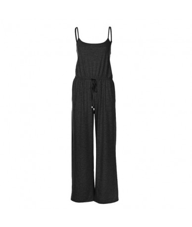 rompers womens jumpsuit Sleeveless Jumpsuit Ladies Casual Loose Playsuit Long Trousers body femme sexy комбинезон женскийBY3...
