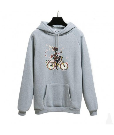 2019 winter Spring thick warm Long Sleeve Hooded Sweatshirt Rose embroidery Women's Pullover casual loose hoodies plus size ...