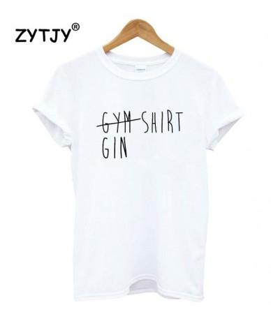 gym gin shirt Women tshirt Cotton Casual Funny t shirt For Lady Yong Girl Top Tee Hipster Tumblr ins Drop Ship S-144 - White...