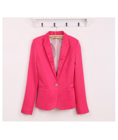 2018 Blazer Women Suit Blazer Foldable Brand Jacket Made Of Cotton &Spandex With Lining Vogue Refresh Blazers - Rose - 45399...
