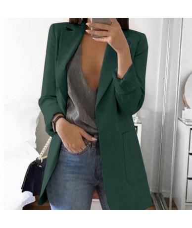 Autumn Office lady Long Slim Blazers Suit Women white Notched Blazer Coat Casual elegant long sleeve Female Business suit 20...