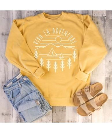Viva La Adventure Crewneck Sweatshirt Hipster Jumper Unisex Fashion Tumblr Casual Tops Long Sleeve 70s clothing - White - 4T...