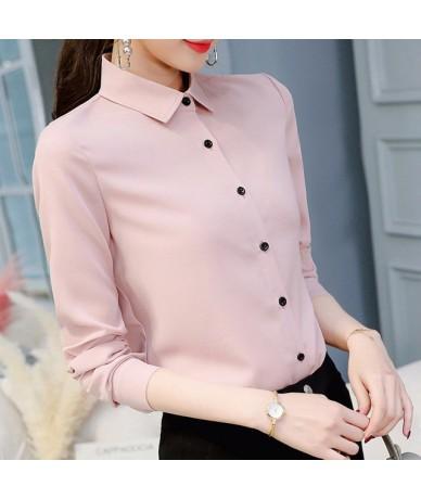Brand Blusas Mujer De Mod Tops Long Sleeve Lapel White Blouse Office Ladies Work Blouses Fashion Clothing Blusas Womens Shir...