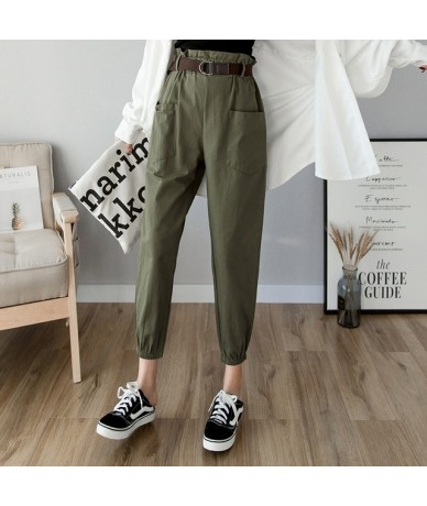 Women pants 2019 spring summer fashion female solid high waist loose harem pant pencil trousers casual cargo pants streetwea...