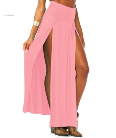 2019 New Arrival High Waisted Sexy Womens Double Slits Summer Solid Long Maxi Skirt Wholesale 51 Valentine's Day Gifts - pin...