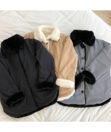 2 ways wearing 2018 Winter Jacket Women Coats Hooded short design Thick fur Padded Coats and jackets womens (X170) - Beige -...