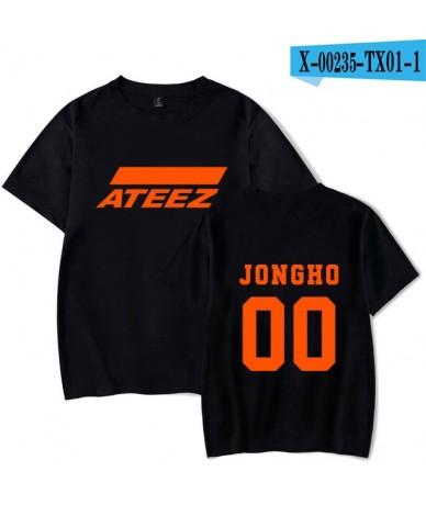 New kpop group ATEEZ T-shirt tshirt Tops Hongjoong Seonghwa Yunho Yeosang San Mingi Wooyoung Jongho ATEEZ A TEEnager Z - Bla...