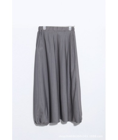 2019 New Autumn Winter Fashion Tide Black High Elastic Waist Loose Draped Ankle-length Harem Pants Woman All-match S636 - gr...