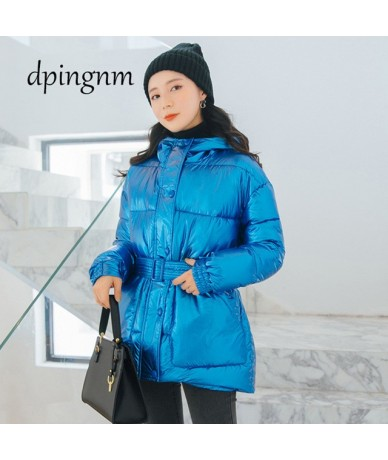 2019 Women Winter Jackets Down Cotton Hooded Coat Plus Size Parkas Mujer Coats Long Coat Fashion Female collar Coats A1297 -...
