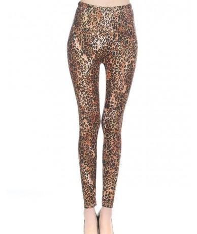 lady animal patten legging tiger leopard snake printed leggings ankle slim punk pant girl fashion 9 pants - leopard - 4Z3817...