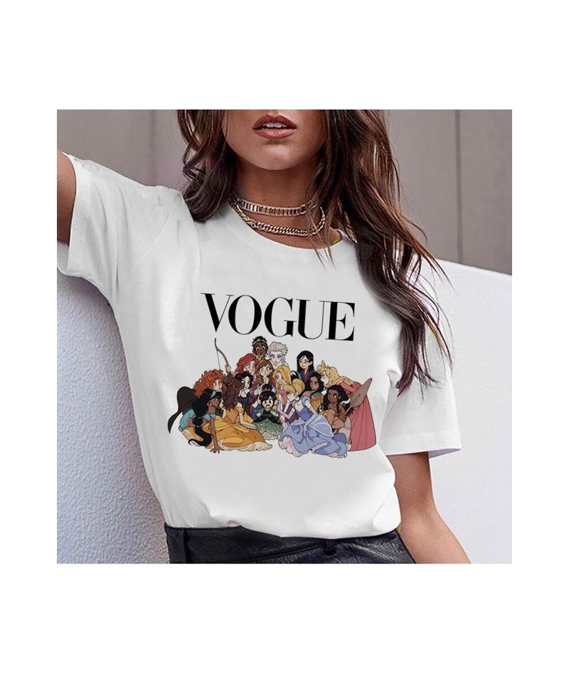 Vogue Harajuku T Shirt Summer Graphic Ullzang T-shirt Korean Kawaii Streetwear Tshirt 90s Funny Princess Cartoon Top Tees Fe...