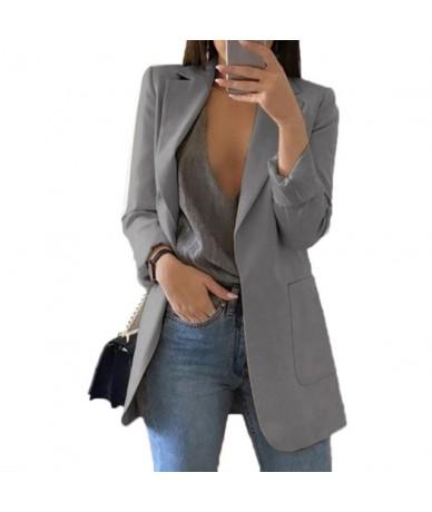 New Fashion Slim Blazers Women Autumn Suit Jacket Female Work Office Lady Suit Black with Pockets Business Notched Blazer Co...