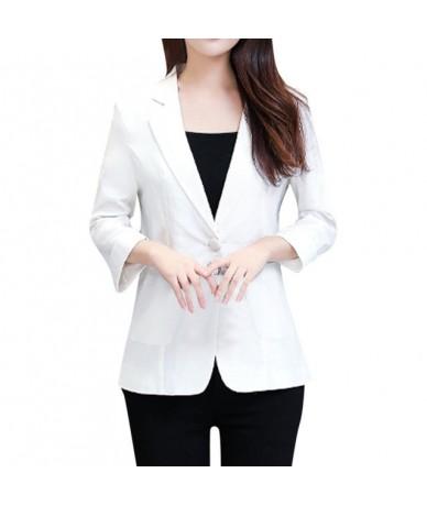 Black Women Blazer 2019 Formal Blazers Lady Office Work Suit Female Three Quarter Sleeve Pockets Jackets Slim Black Women Bl...