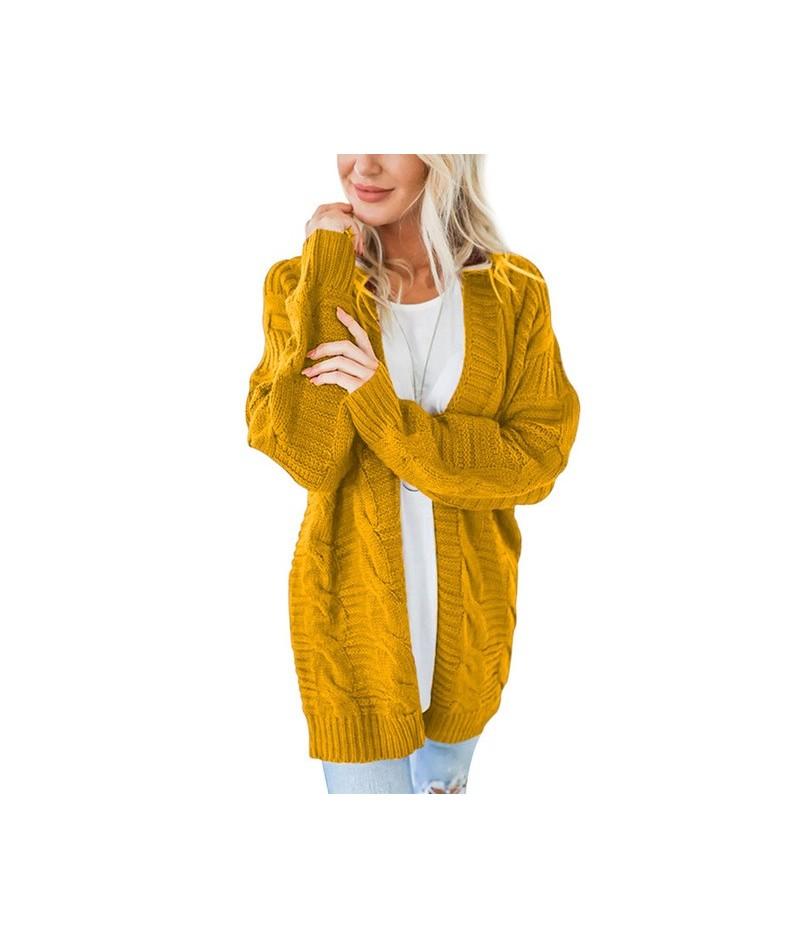 2019 Autumn Twist Long Sleeve Cardigan Feminino Loose Sweater Women Winter Plus Size Knitted Cardigan Women's Coats Outerwea...
