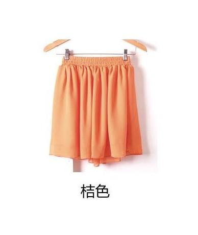 Women Fashion Tulle Summer skirt Wind Cosplay skirt kawaii Female Mini Skirts Short Under - orange - 463095682670-15