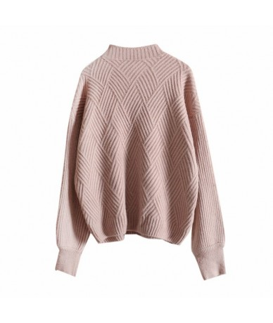 Sueter Mujer 2019 Women Casual Pullover and Sweaters Oversized Chic Pull Jumpers Candy Color Blue Knit Tops roupas feminina ...