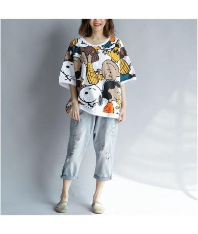 Kawaii t-shirt Cotton Women Tshirt 2019 Summer Vogue Print Tee Plus Size Cartoon T Shirt Korean TShirts Tops Femme 4XL 5XL 6...