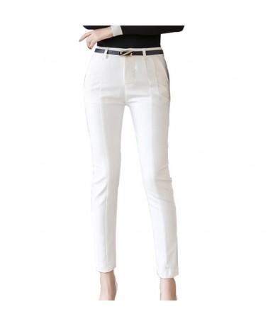 Trousers Women 2019 New Ankle-length Capris Female Leggings Pantalon Femme Workwear Slim High Waist Elastic Casual Woman Pan...